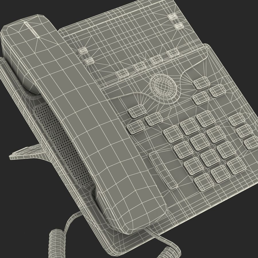 Telefone IP Cisco 7841 royalty-free 3d model - Preview no. 27