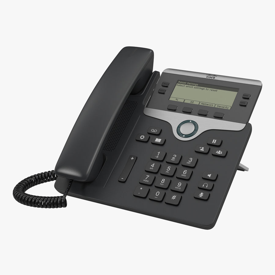 Telefone IP Cisco 7841 royalty-free 3d model - Preview no. 1