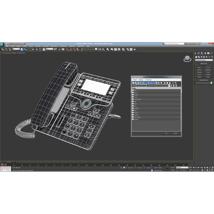 Telefone IP Cisco 7841 royalty-free 3d model - Preview no. 21