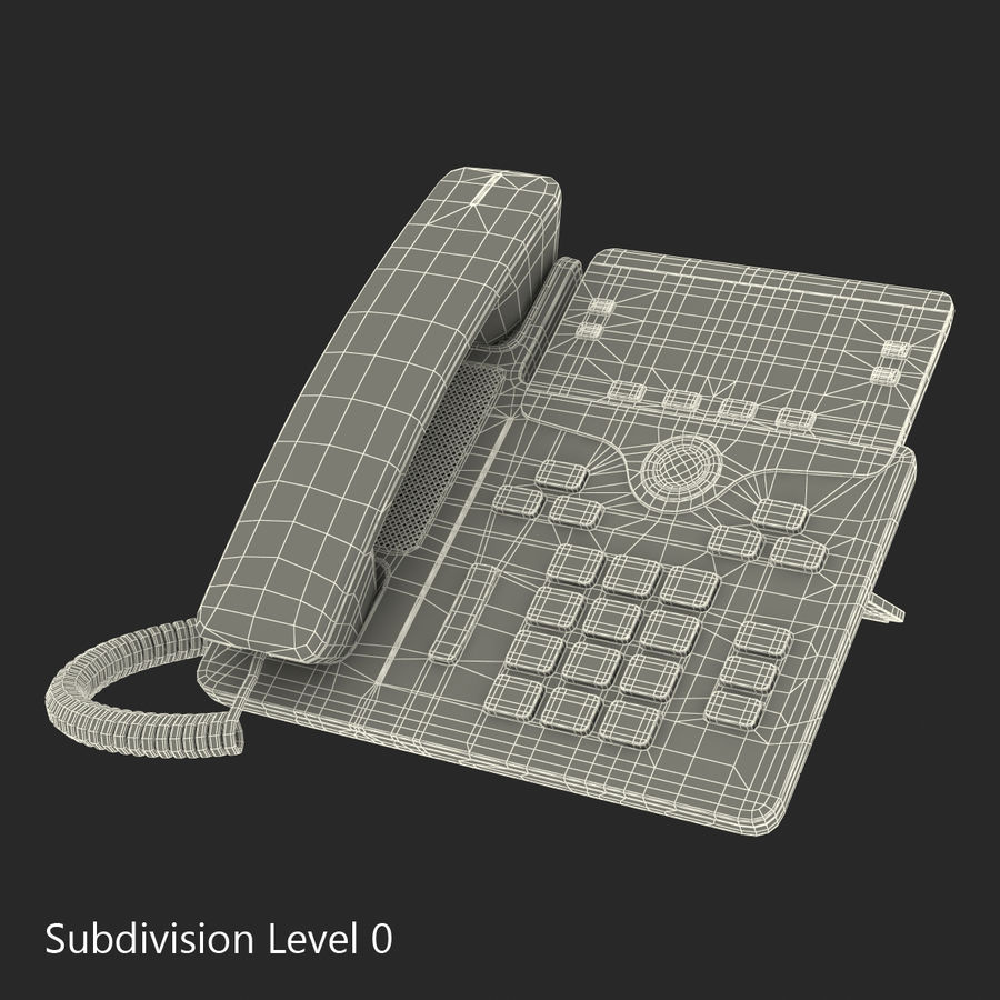 Telefone IP Cisco 7841 royalty-free 3d model - Preview no. 17