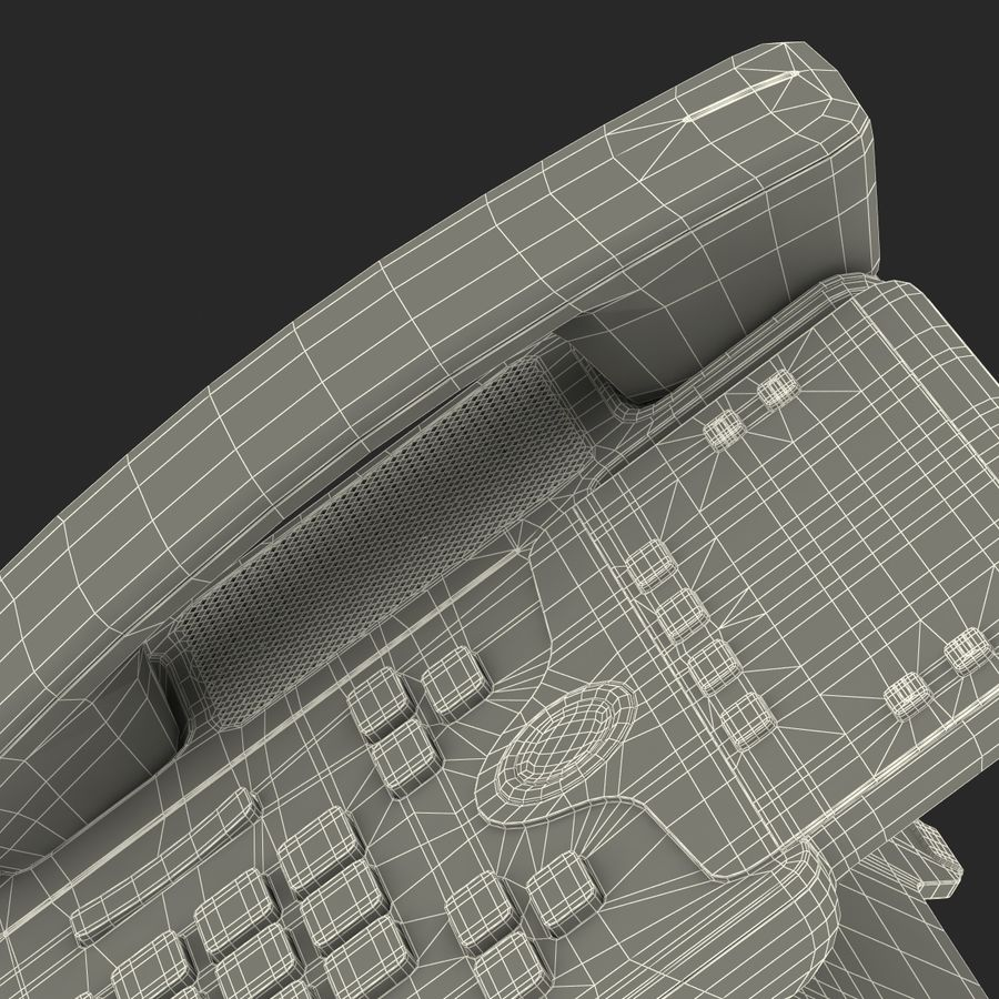 Cisco IP Phone 7841 royalty-free 3d model - Preview no. 31