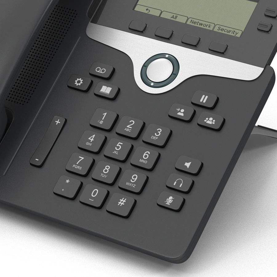 Telefone IP Cisco 7841 royalty-free 3d model - Preview no. 9