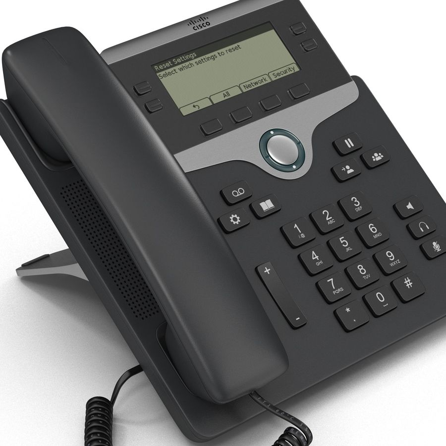 Telefone IP Cisco 7841 royalty-free 3d model - Preview no. 8