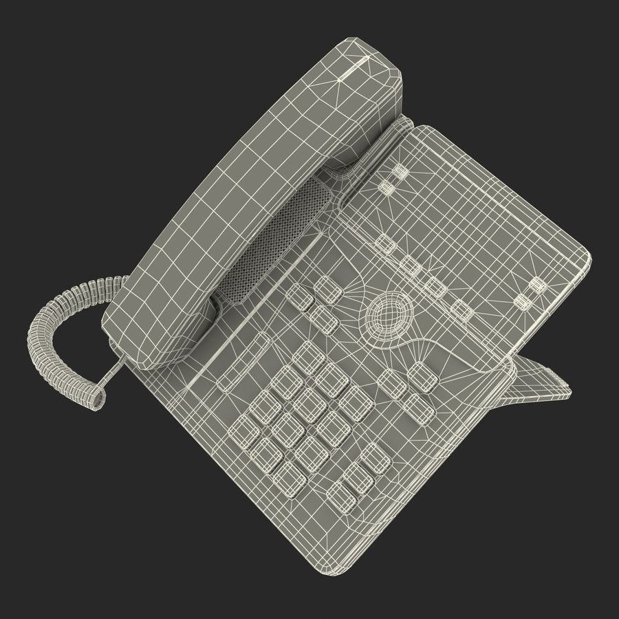 Telefone IP Cisco 7841 royalty-free 3d model - Preview no. 26