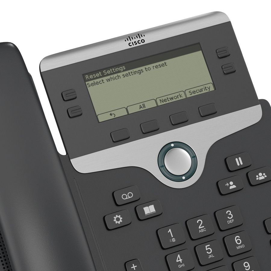 Telefone IP Cisco 7841 royalty-free 3d model - Preview no. 10