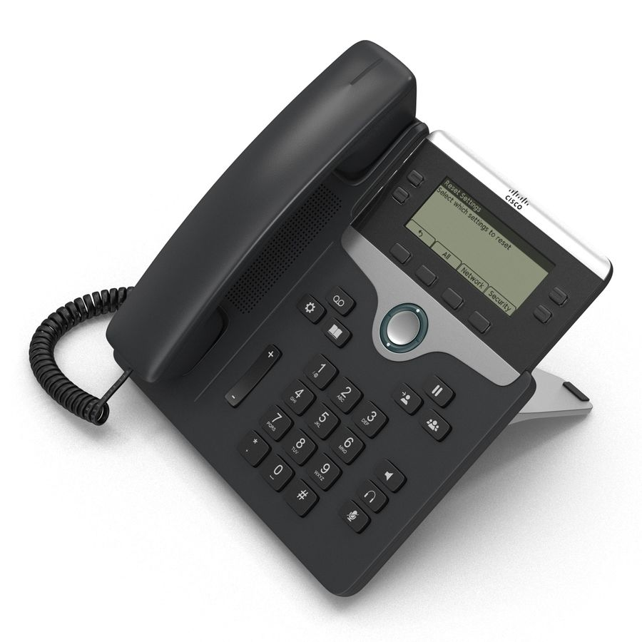 Telefone IP Cisco 7841 royalty-free 3d model - Preview no. 7
