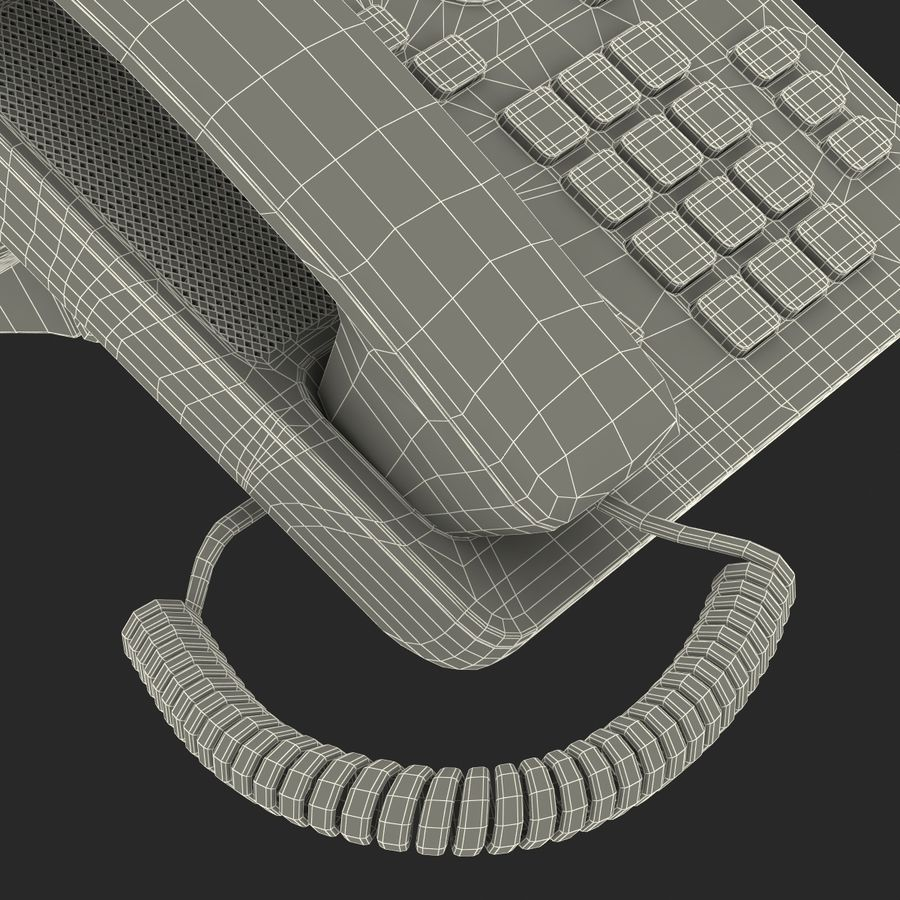 Telefone IP Cisco 7841 royalty-free 3d model - Preview no. 30
