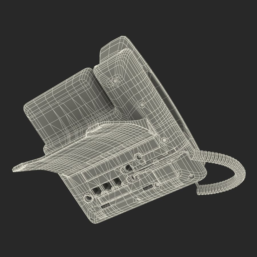 Telefone IP Cisco 7841 royalty-free 3d model - Preview no. 32