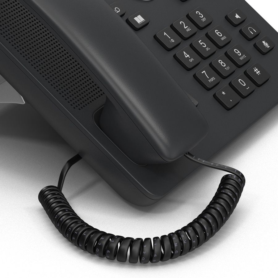 Telefone IP Cisco 7841 royalty-free 3d model - Preview no. 11