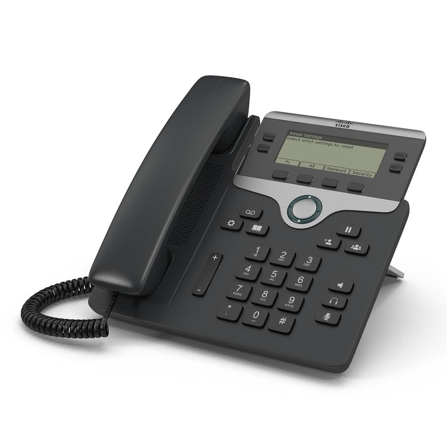 Telefone IP Cisco 7841 royalty-free 3d model - Preview no. 2