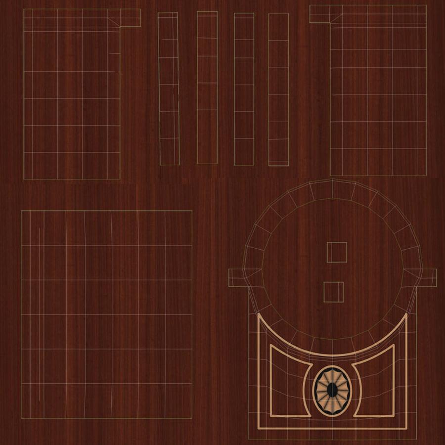 Настольные часы royalty-free 3d model - Preview no. 18