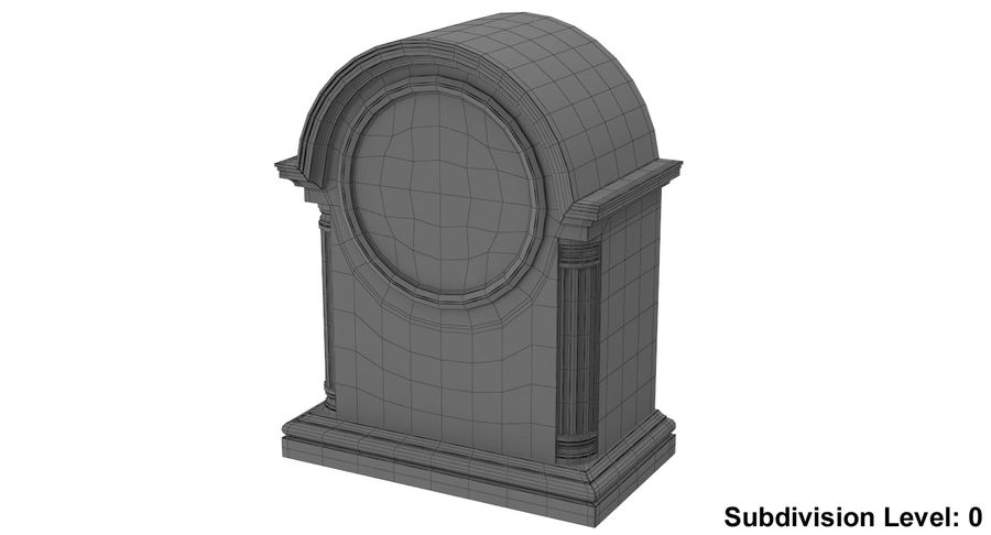 Horloge de table royalty-free 3d model - Preview no. 10