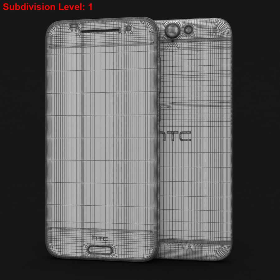 HTC One A9 Deep Garnet royalty-free 3d model - Preview no. 26