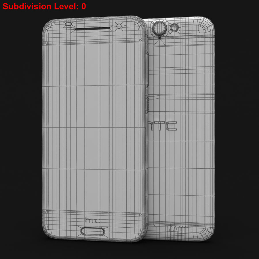 HTC One A9 Deep Garnet royalty-free 3d model - Preview no. 27