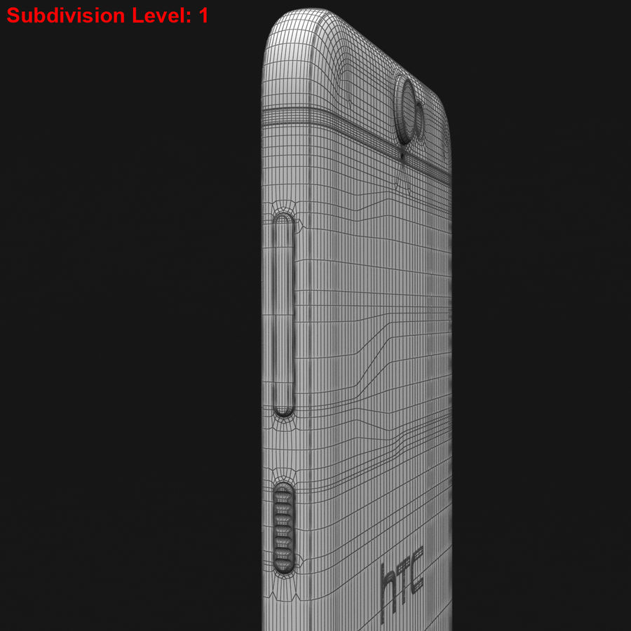 HTC One A9 Deep Garnet royalty-free 3d model - Preview no. 30