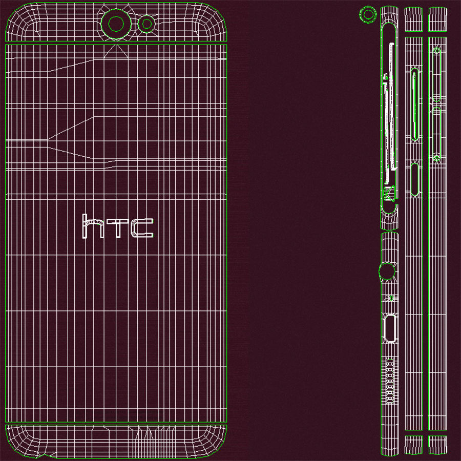 HTC One A9 Deep Garnet royalty-free 3d model - Preview no. 24