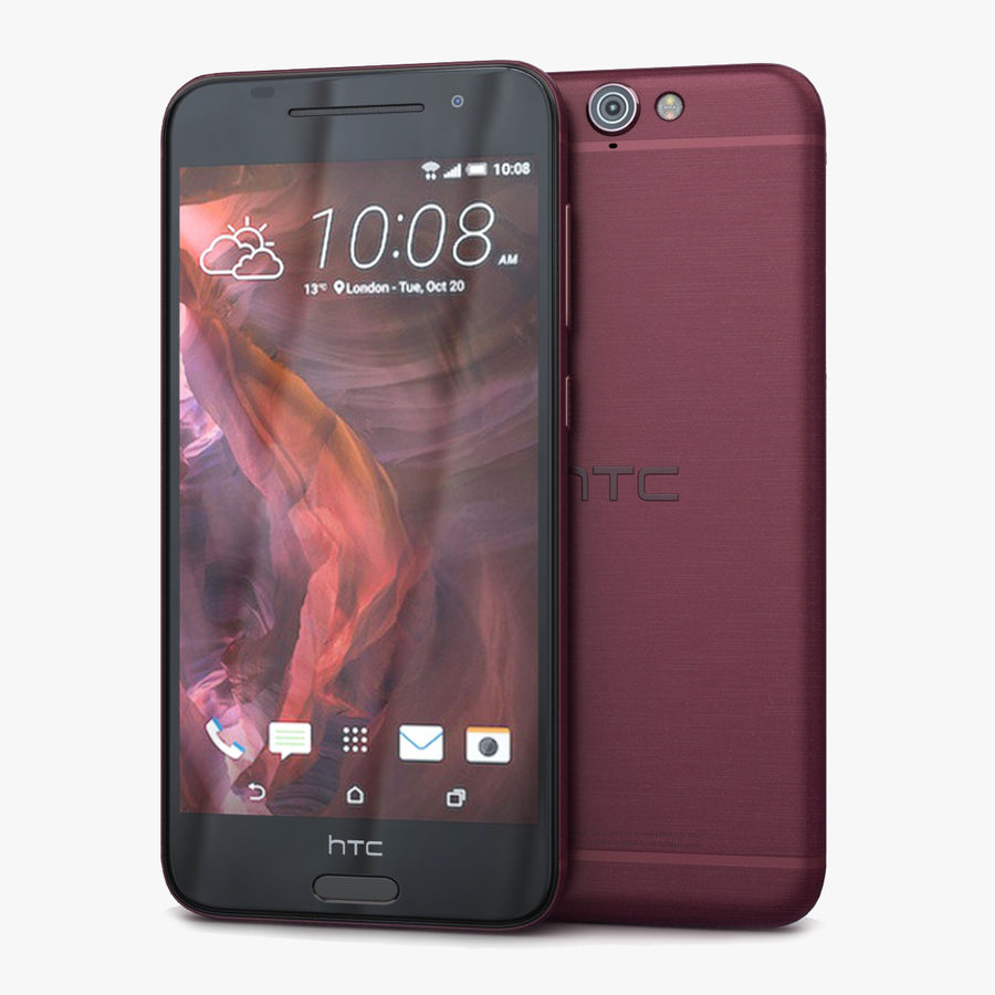 HTC One A9 Deep Garnet royalty-free 3d model - Preview no. 1