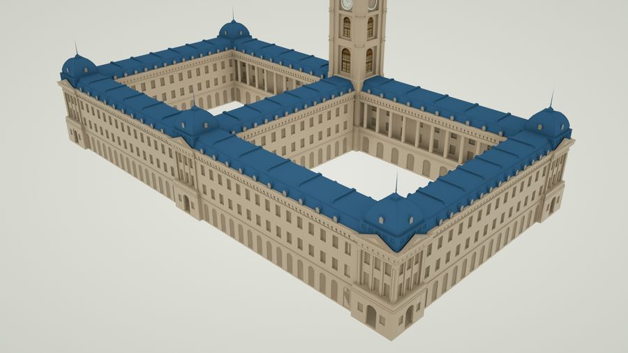 历史建筑 royalty-free 3d model - Preview no. 4