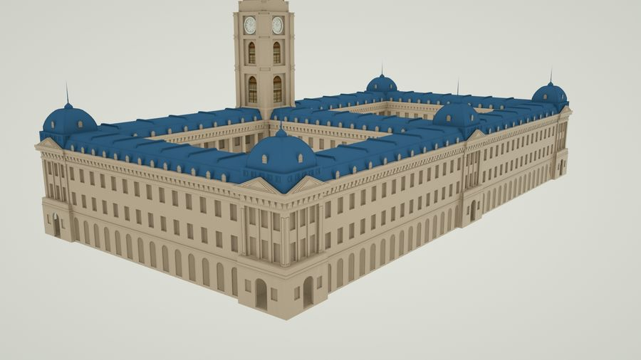 历史建筑 royalty-free 3d model - Preview no. 2