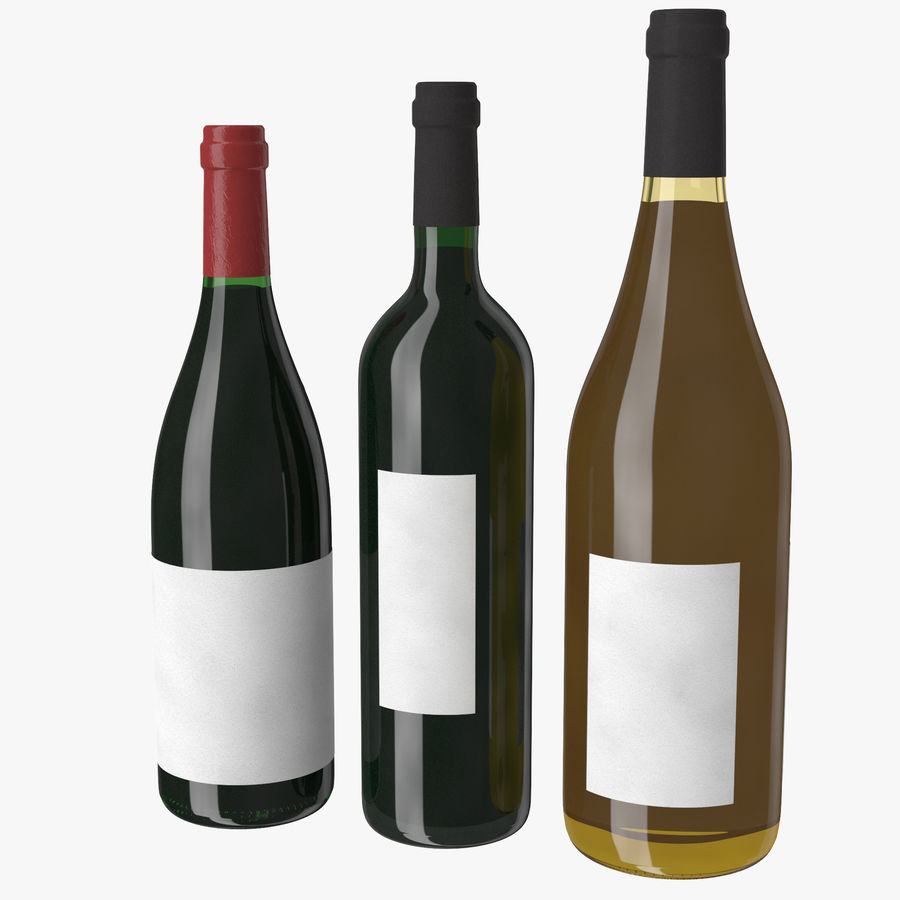 Bottle of wine Collection royalty-free 3d model - Preview no. 3