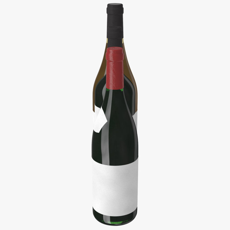 Bottle of wine Collection royalty-free 3d model - Preview no. 15
