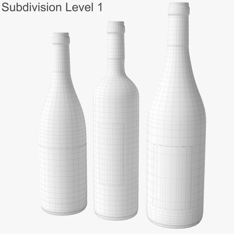 Bottle of wine Collection royalty-free 3d model - Preview no. 35