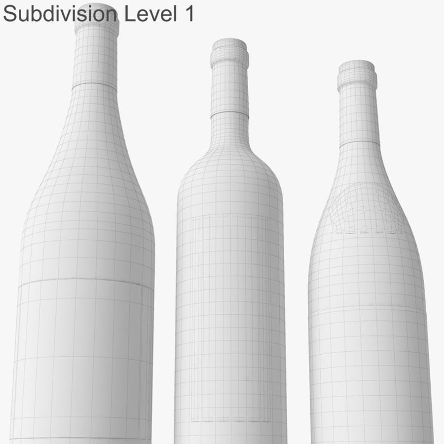 Bottle of wine Collection royalty-free 3d model - Preview no. 44