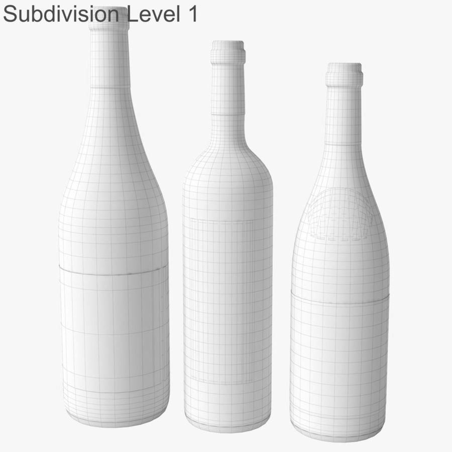 Bottle of wine Collection royalty-free 3d model - Preview no. 33
