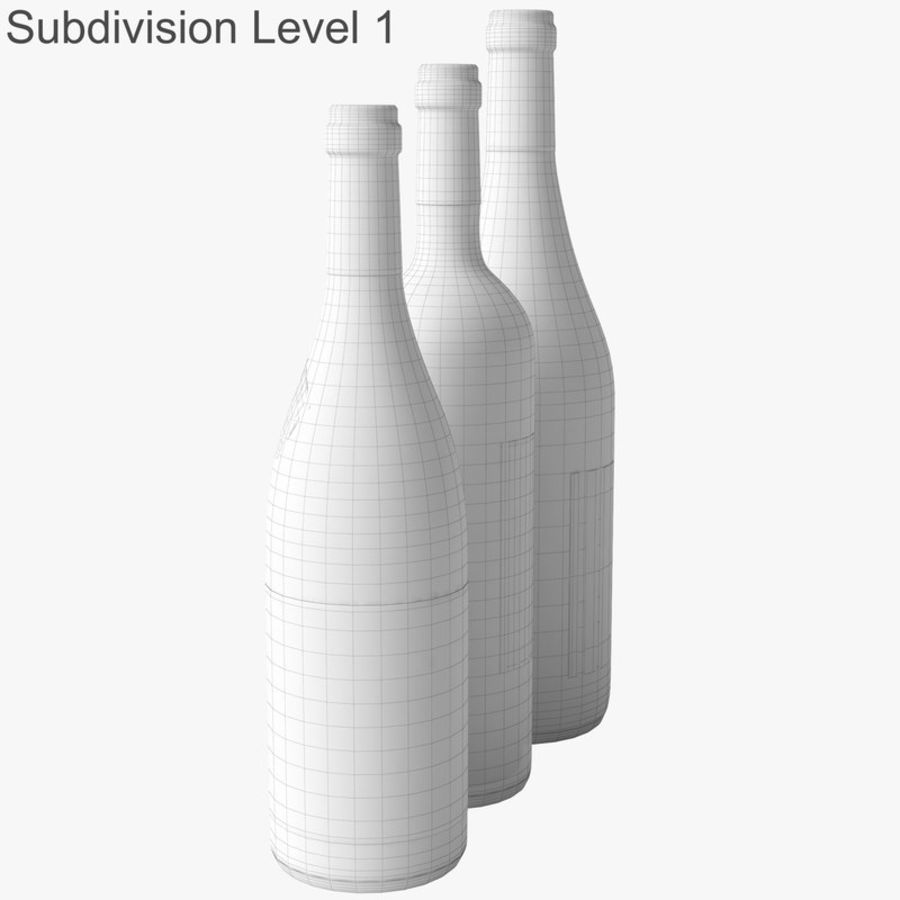 Bottle of wine Collection royalty-free 3d model - Preview no. 36