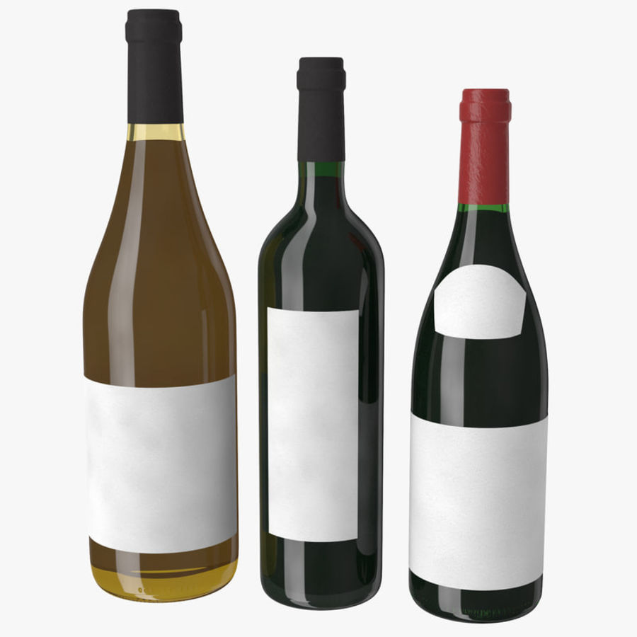 Bottle of wine Collection royalty-free 3d model - Preview no. 2