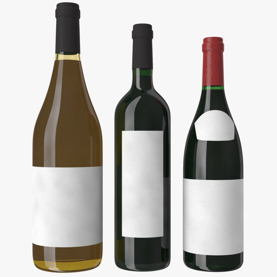 Bottle of wine Collection royalty-free 3d model - Preview no. 13