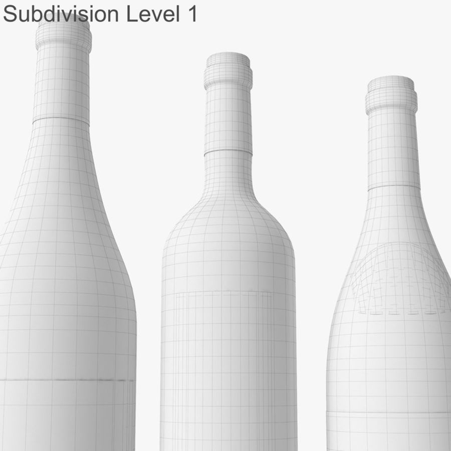 Bottle of wine Collection royalty-free 3d model - Preview no. 40