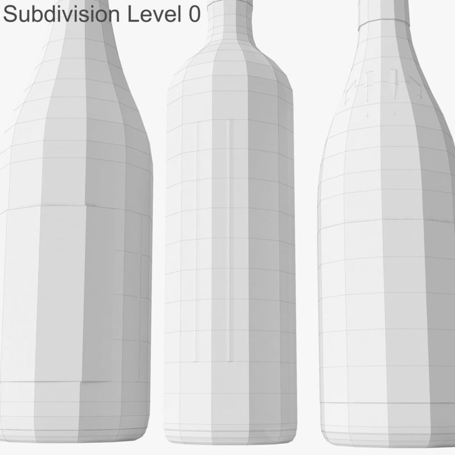 Bottle of wine Collection royalty-free 3d model - Preview no. 26