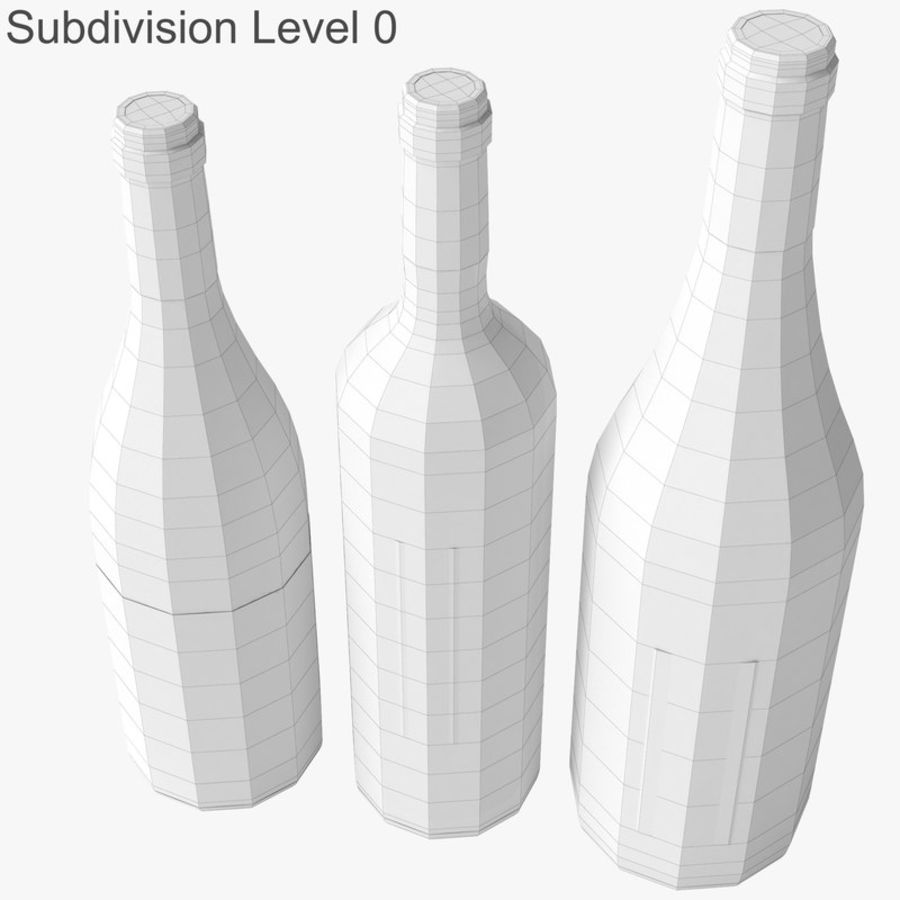 Bottle of wine Collection royalty-free 3d model - Preview no. 24