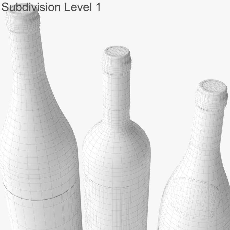 Bottle of wine Collection royalty-free 3d model - Preview no. 43