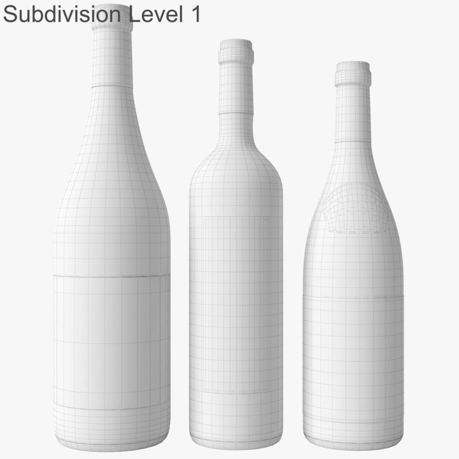 Bottle of wine Collection royalty-free 3d model - Preview no. 45