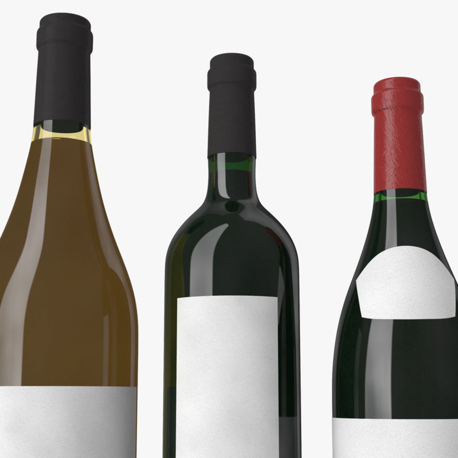 Bottle of wine Collection royalty-free 3d model - Preview no. 8