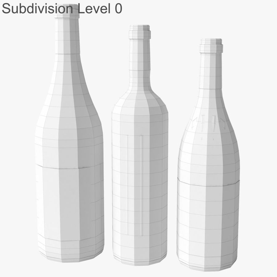 Bottle of wine Collection royalty-free 3d model - Preview no. 18