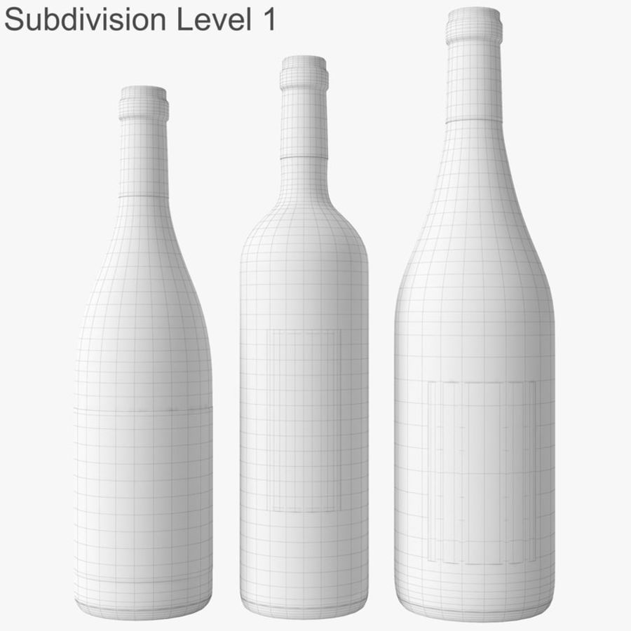 Bottle of wine Collection royalty-free 3d model - Preview no. 46