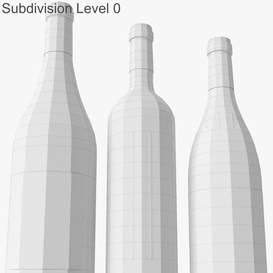 Bottle of wine Collection royalty-free 3d model - Preview no. 29