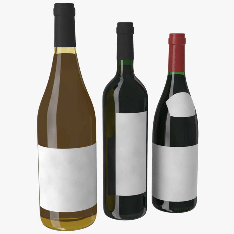 Bottle of wine Collection royalty-free 3d model - Preview no. 1