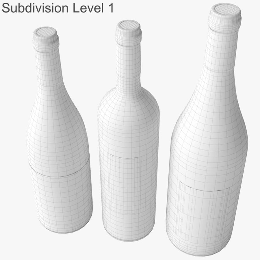 Bottle of wine Collection royalty-free 3d model - Preview no. 39