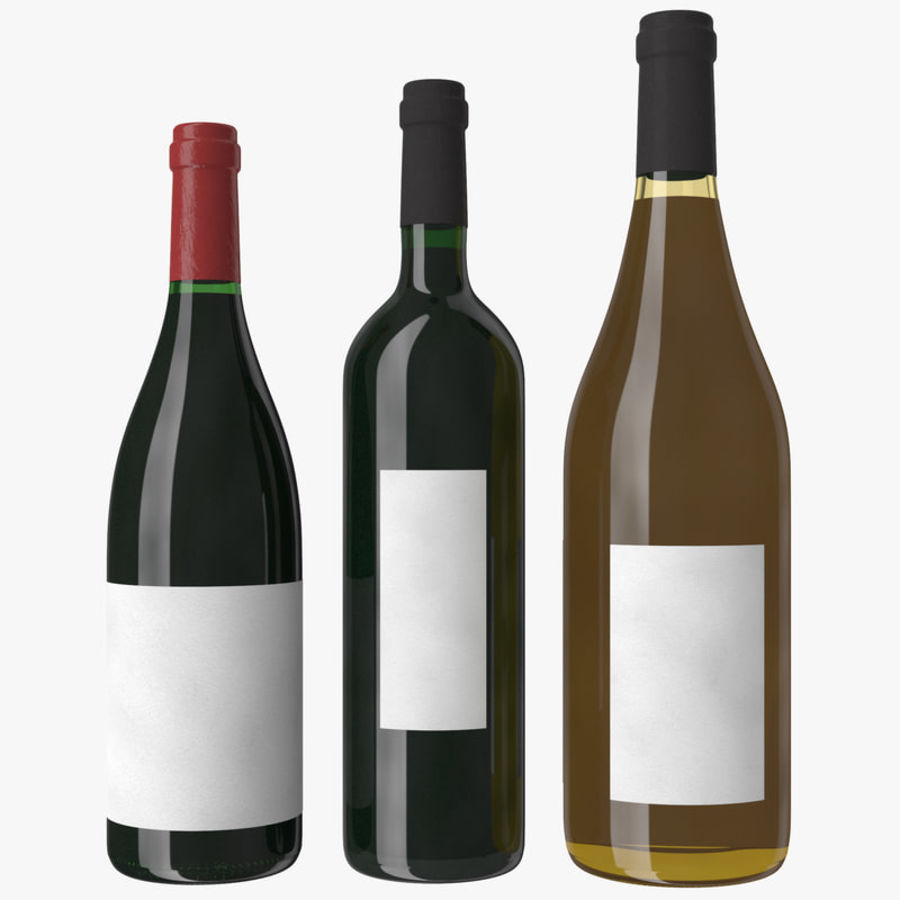Bottle of wine Collection royalty-free 3d model - Preview no. 14