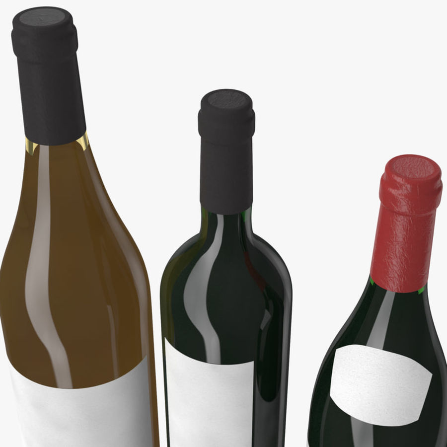 Bottle of wine Collection royalty-free 3d model - Preview no. 11