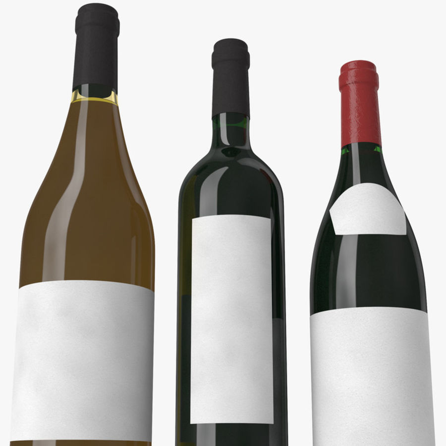 Bottle of wine Collection royalty-free 3d model - Preview no. 12