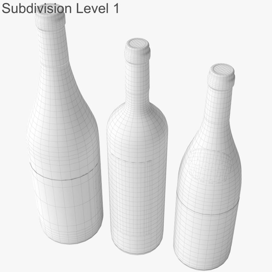 Bottle of wine Collection royalty-free 3d model - Preview no. 37