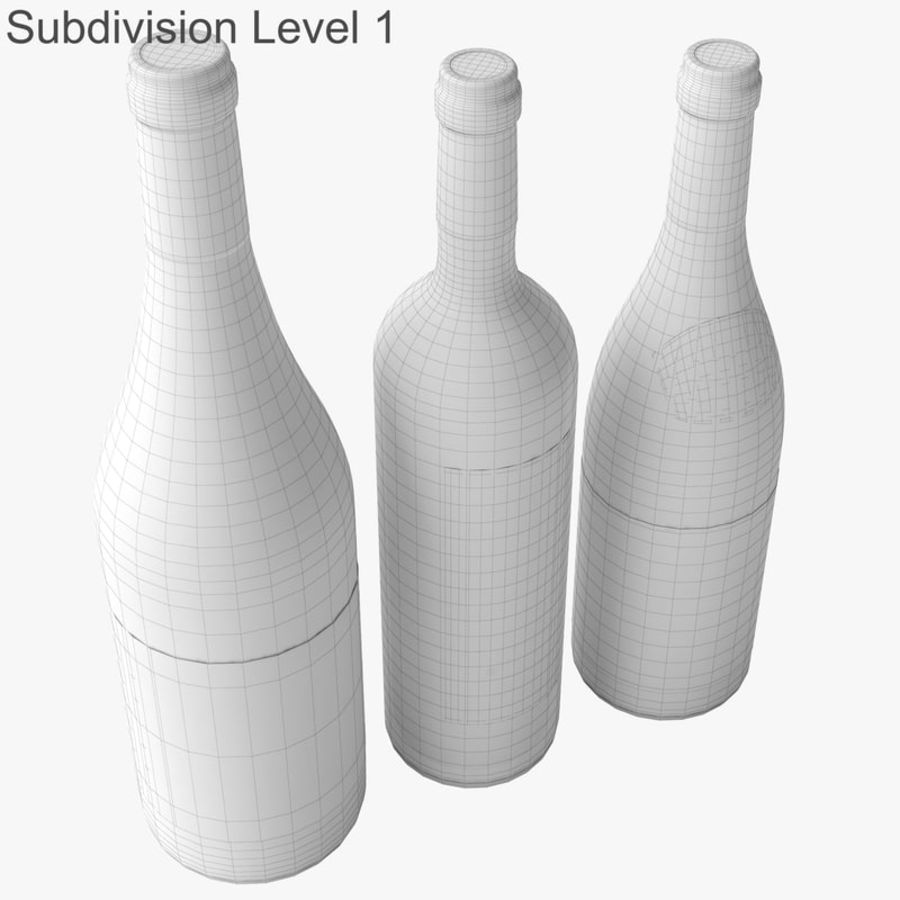 Bottle of wine Collection royalty-free 3d model - Preview no. 38