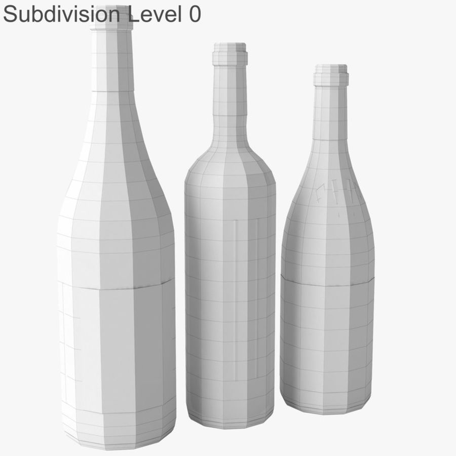 Bottle of wine Collection royalty-free 3d model - Preview no. 19