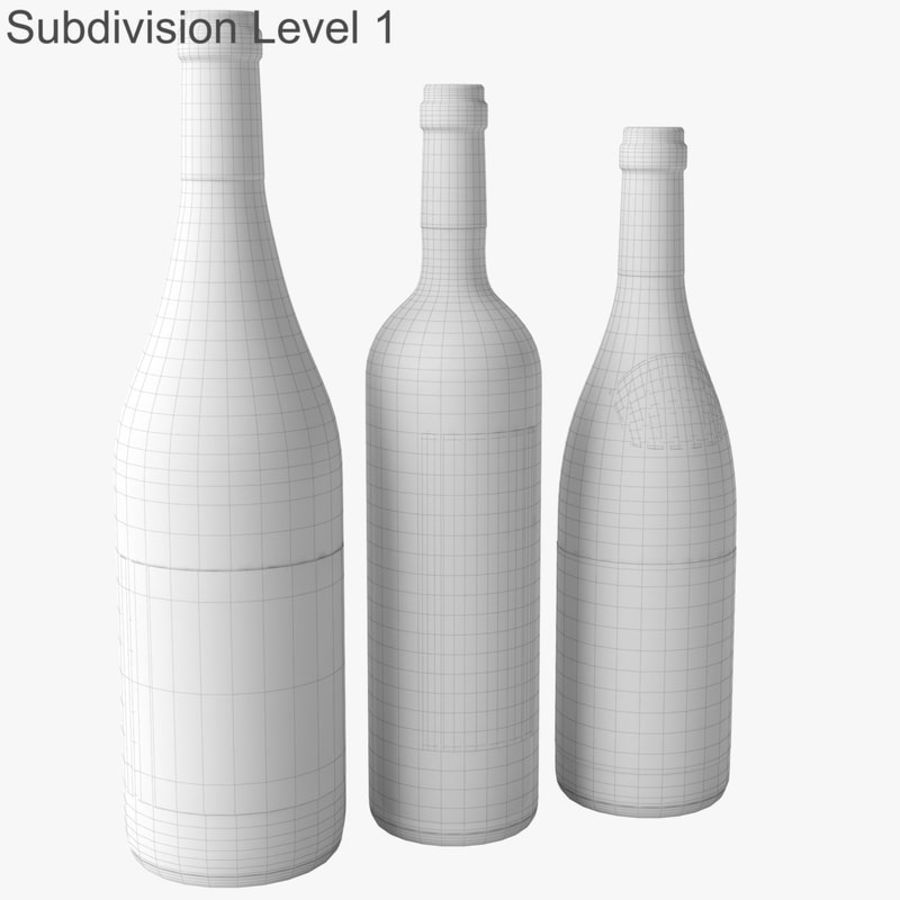 Bottle of wine Collection royalty-free 3d model - Preview no. 34