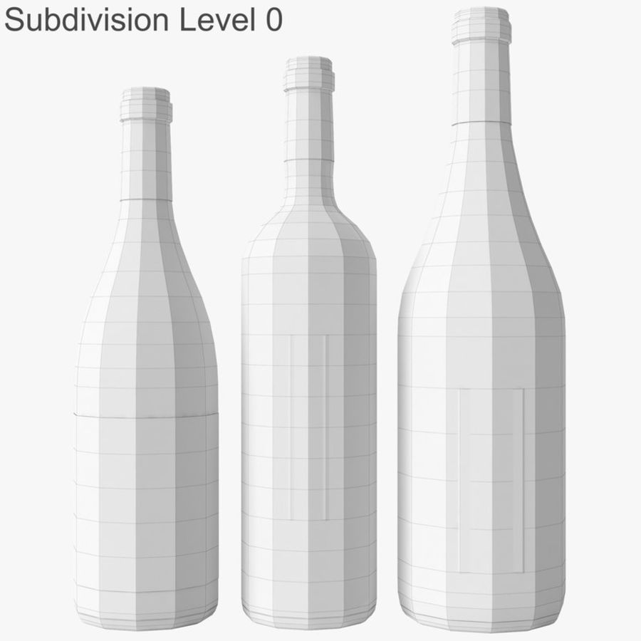 Bottle of wine Collection royalty-free 3d model - Preview no. 31